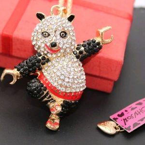Betsey Johnson ku Fu Panda Pendant Necklace